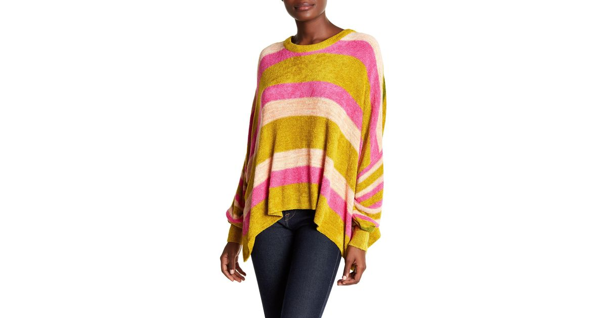Lyst Free People All About You Striped Knit Pullover
