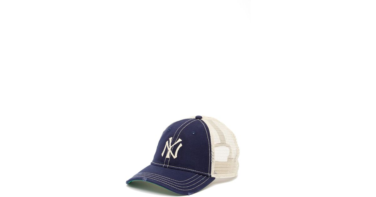 c436fc3ab58 Lyst - American Needle New York Yankees Mesh Back Baseball Cap in Blue for  Men