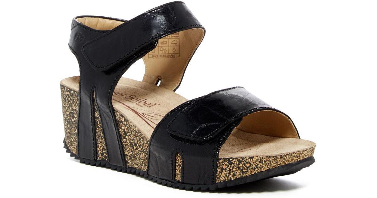 3f0011688967 Lyst - Josef Seibel Meike Ankle Strap Wedge Sandal in Black