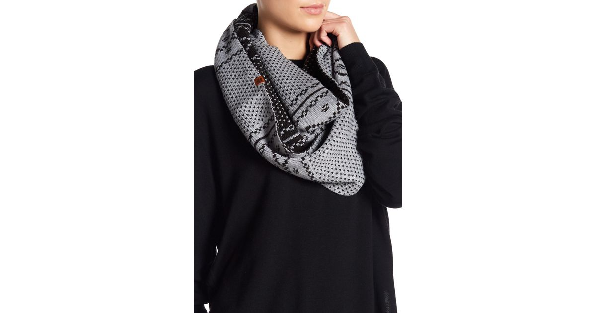 Lyst - Timberland Fair Isle Reversible Infinity Scarf in Gray