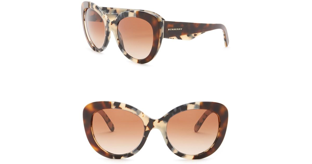 be042b4b568b Lyst - Burberry 54mm Butterfly Sunglasses in Natural