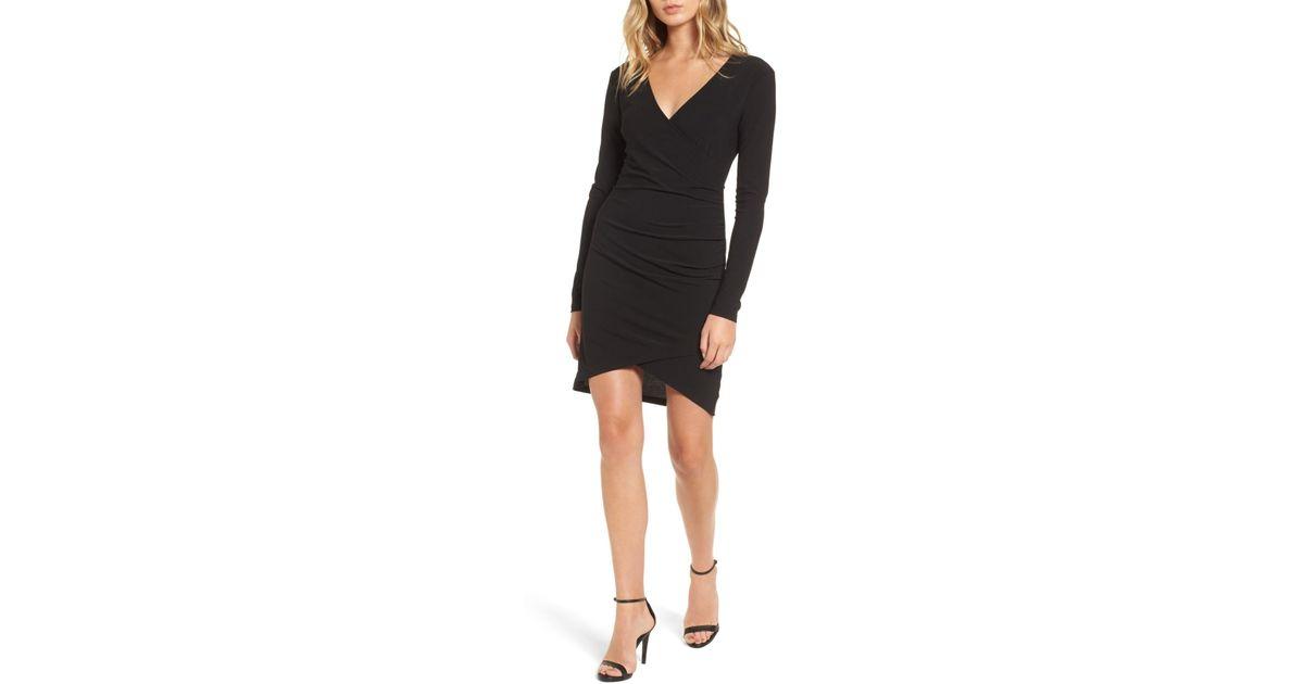 65ed7198ac Leith Ruched Sheath Dress in Black - Lyst