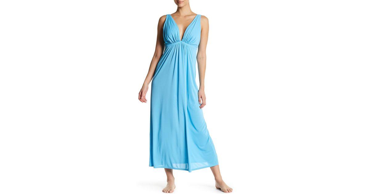 Lyst - Natori Aphrodite Gown in Blue