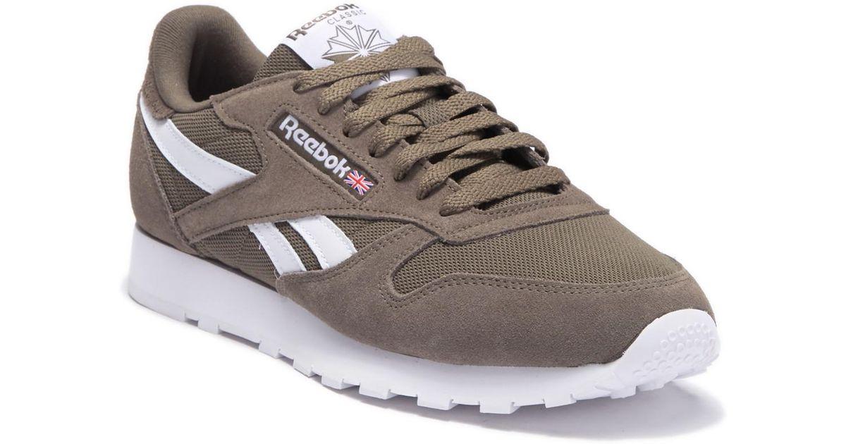 37a77fcf42e4 Lyst - Reebok Classic Leather Mu Sneaker in Gray for Men