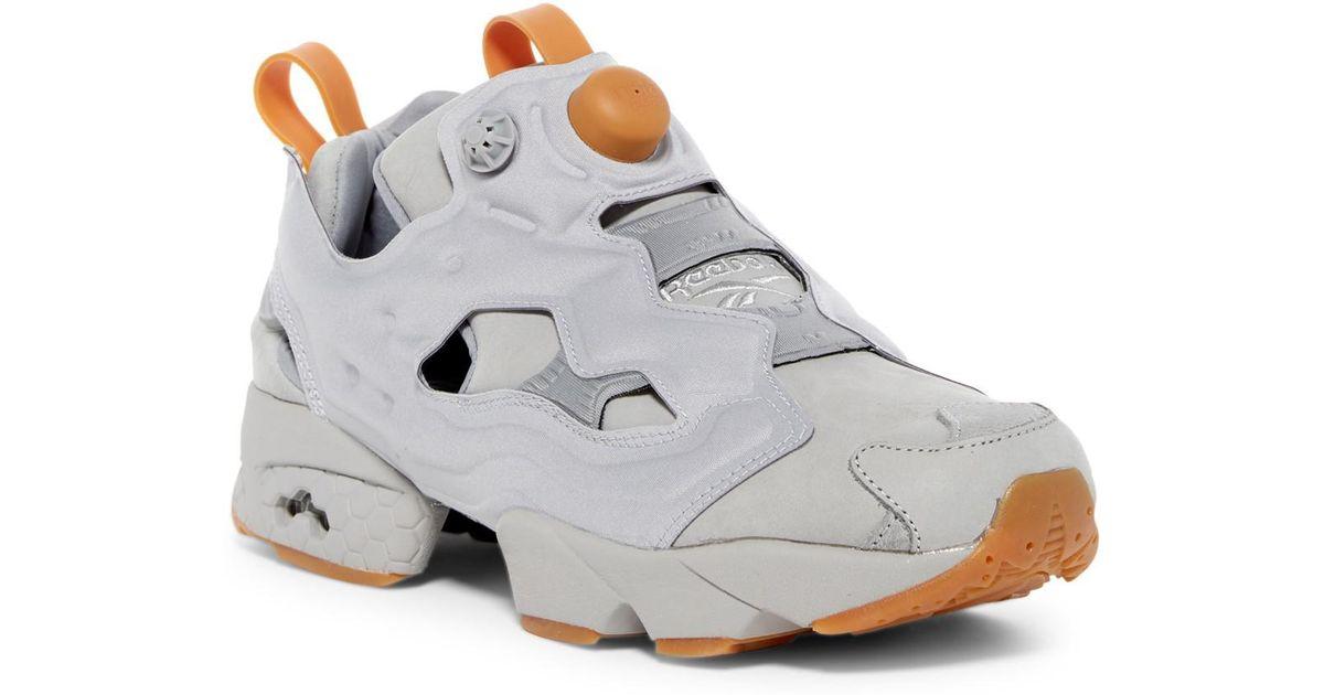 45a23aacc4 ... spain lyst reebok instapump fury og nubuck sneaker in gray for men  e97ef 7df06