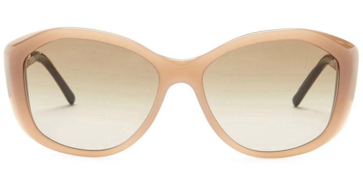 3a04e57d7efe Lyst - Burberry Women s Oversized Plastic Frame Sunglasses in Natural