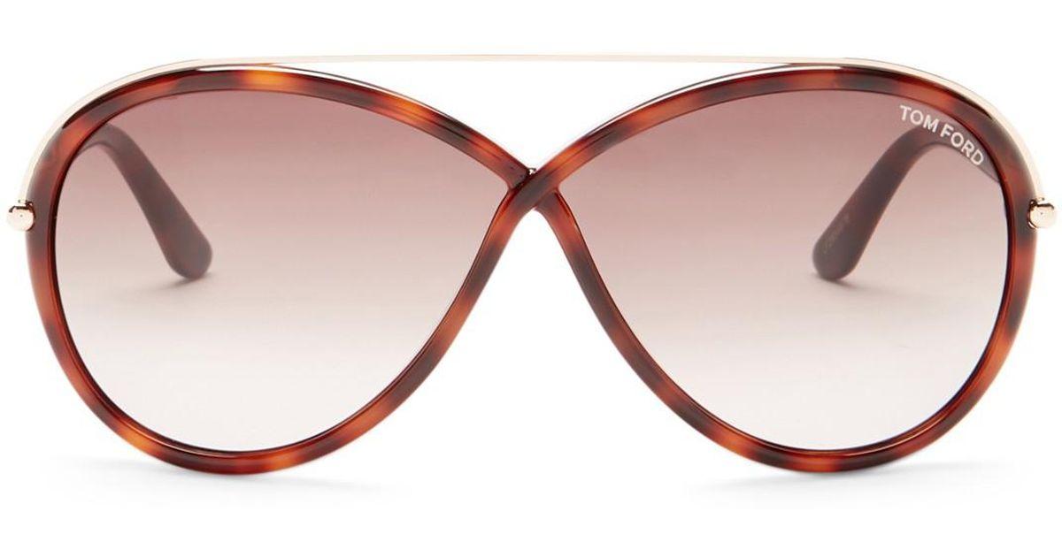 080d2614393 Lyst - Tom Ford Women s Tamara Butterfly Aviator Sunglasses