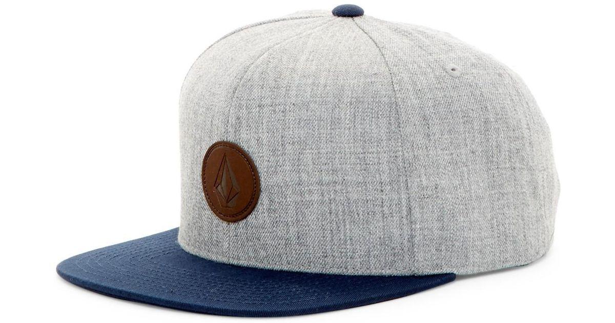 b8f6ac97872c6 Lyst - Volcom Quarter Fabric Snapback Cap in Gray for Men