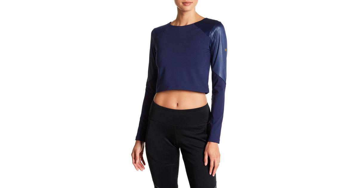 Lyst Asics - Top court Lyst à manches longues bleu en 10889 tissu texturé bleu 3390276 - camisetasdefutbolbaratas.info