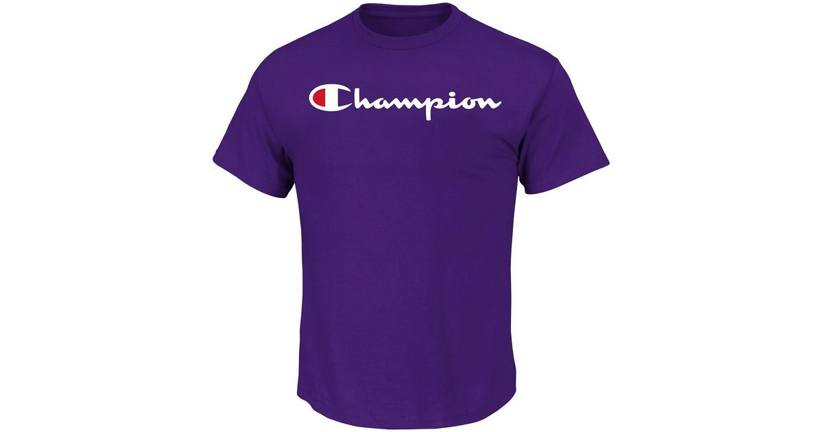 e4d9895ec Lyst - Champion Short Sleeve Logo Graphic Tee (big & Tall) in Purple for Men
