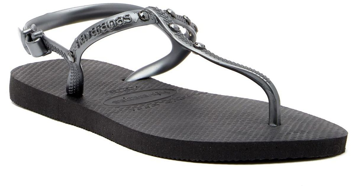 d7981fc52 Lyst - Havaianas Freedom Swarovski Crystal Sandal in Black