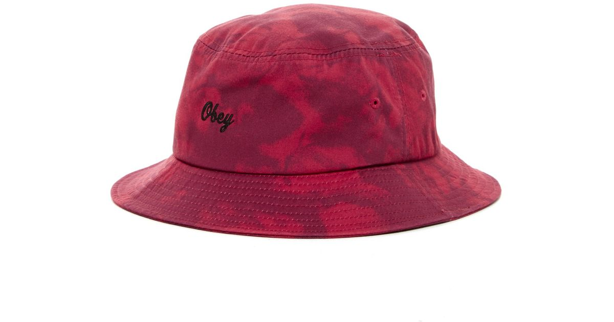 obey haight hat in pink burgundy save 41 lyst