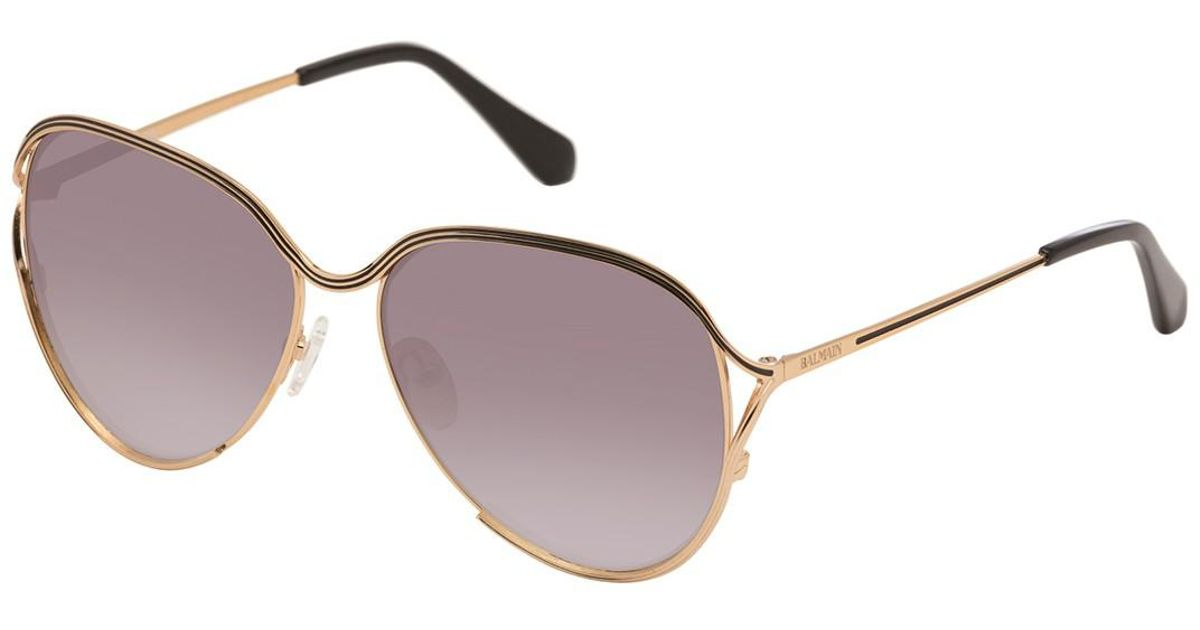 Lyst - Balmain Oversized 59mm Metal Frame Sunglasses in Black