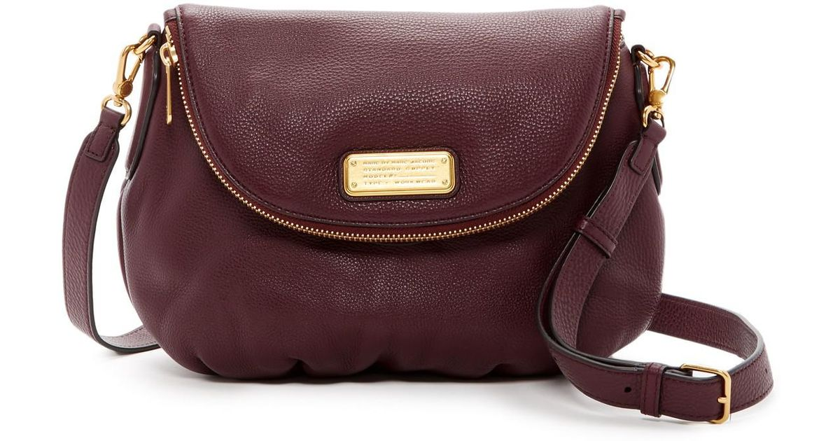 Lyst - Marc Jacobs New Q Natasha Leather Crossbody in Purple
