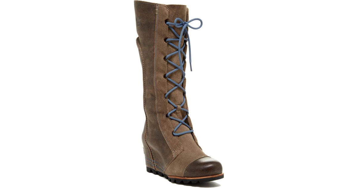 981675f74e9 Lyst - Sorel Cate The Great Wedge Boot