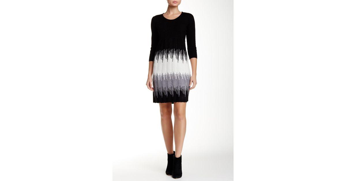 Lyst Sandra Darren Sweater Dress Petite In Black