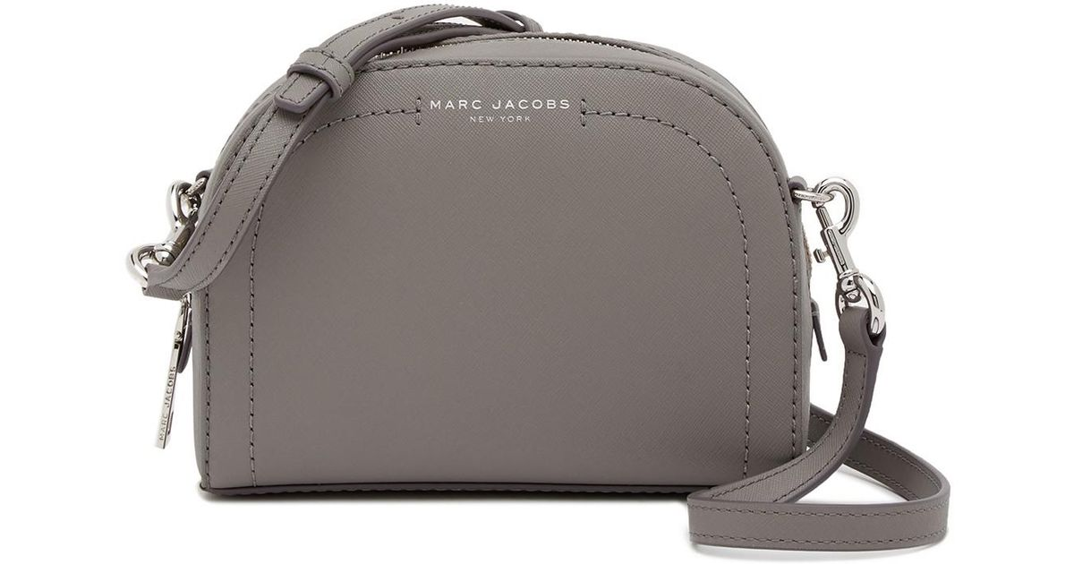 d926977ef Marc Jacobs Playback Leather Crossbody Bag in Gray - Lyst