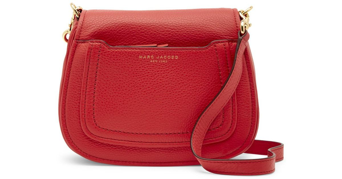 d40eb62e56f365 Marc Jacobs Empire City Mini Messenger Leather Crossbody Bag in Red - Lyst