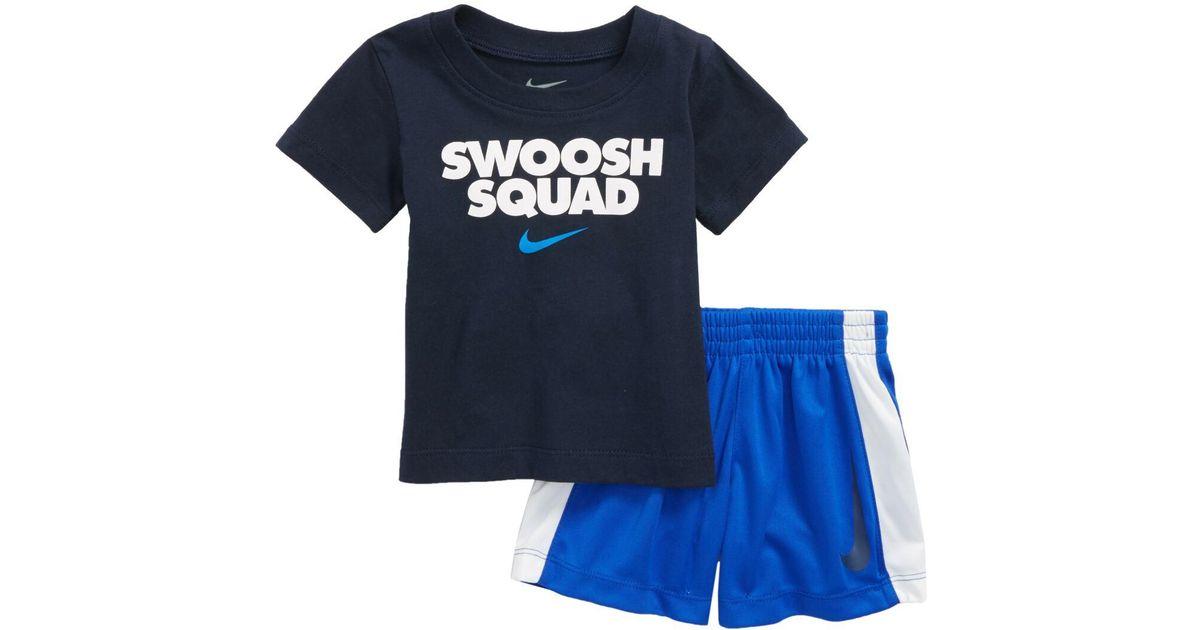 723ed03c Nike Swoosh Squad T-shirt & Shorts Set (baby Boys) in Blue for Men - Lyst