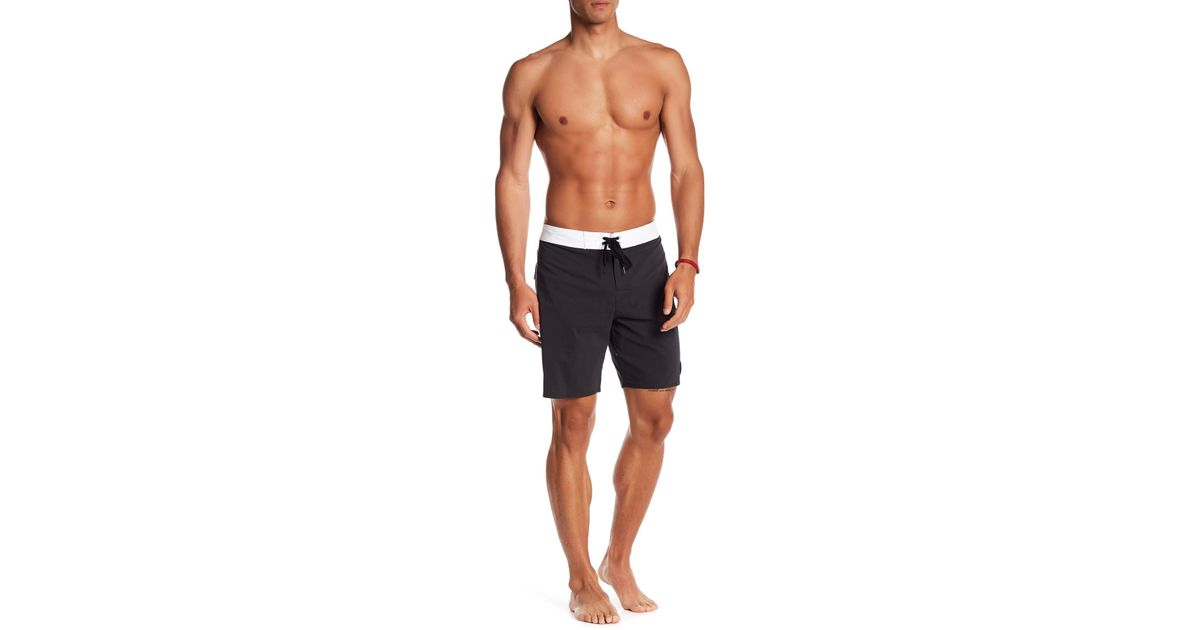91934fa9bf RVCA Smooth Like Swim Trunks in Black for Men - Lyst