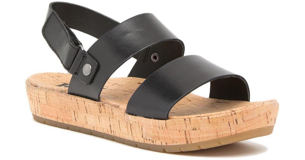 b08467b76de Lyst - Kork-Ease Truett Platform Sandal in Black