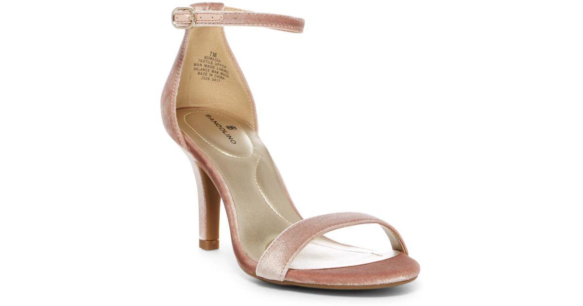 bc0e8e91218d Lyst - Bandolino Madia Ankle Strap Heeled Sandal