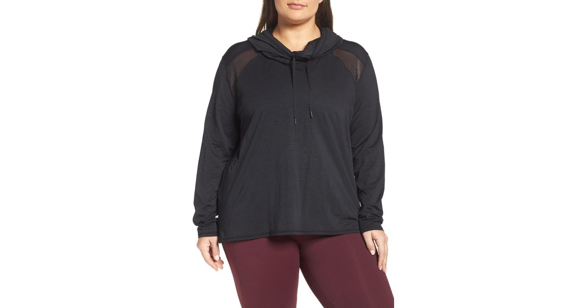 e4fd673c7cd Lyst - Zella Adventure Hooded Pullover (plus Size) in Black