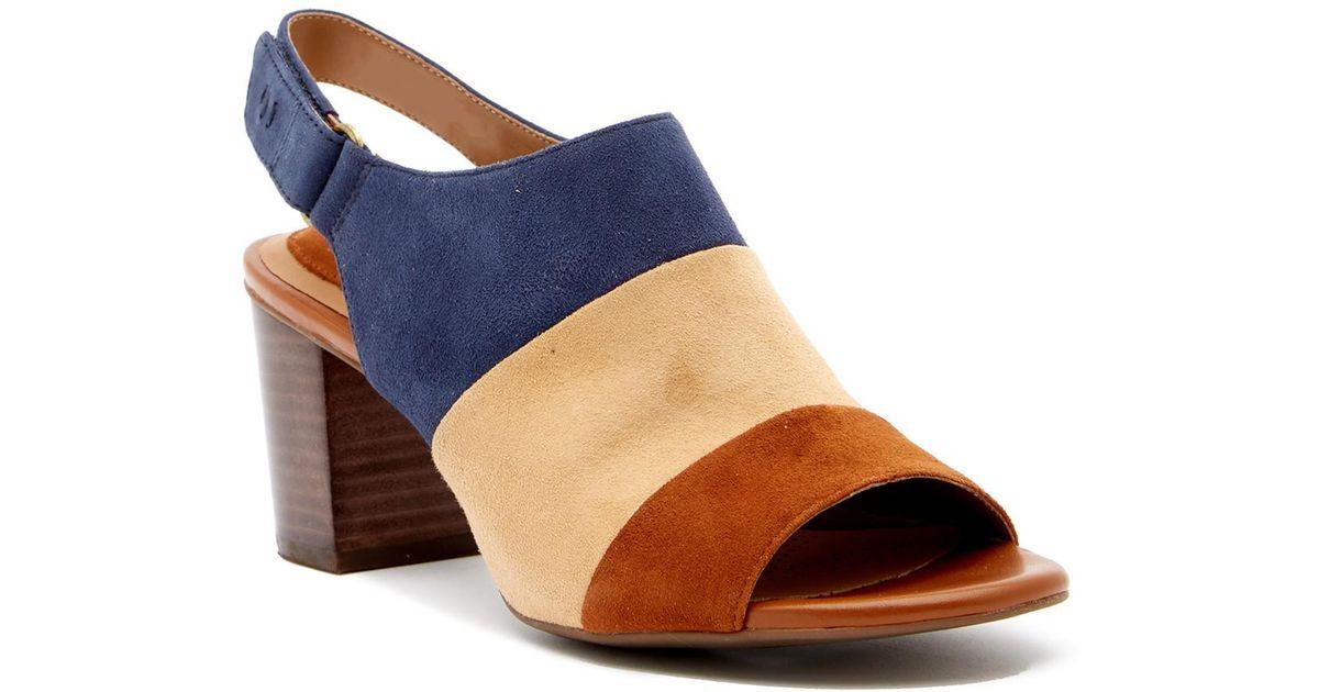 b0b98f1a5a24 Lyst - Clarks Ralene Shine Suede Sandal in Blue