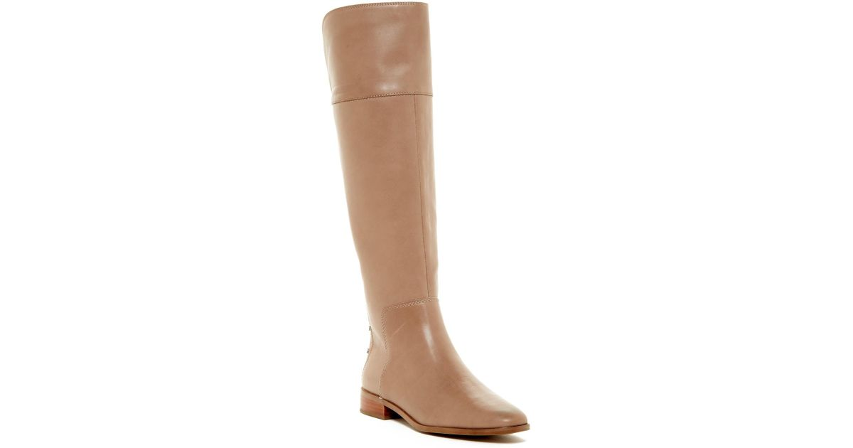 e4cb0862d373 Lyst - Franco Sarto Roselle Leather High Boot in Brown