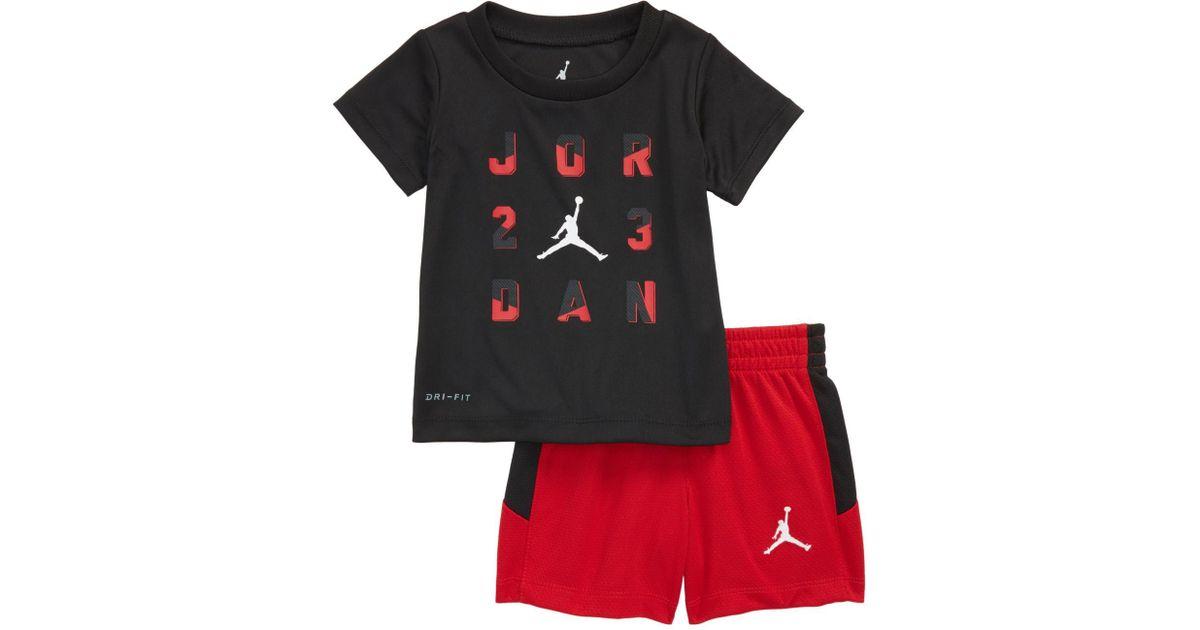 37ef8585f2 Nike 23 T-shirt & Shorts Set (baby Boys) for Men - Lyst