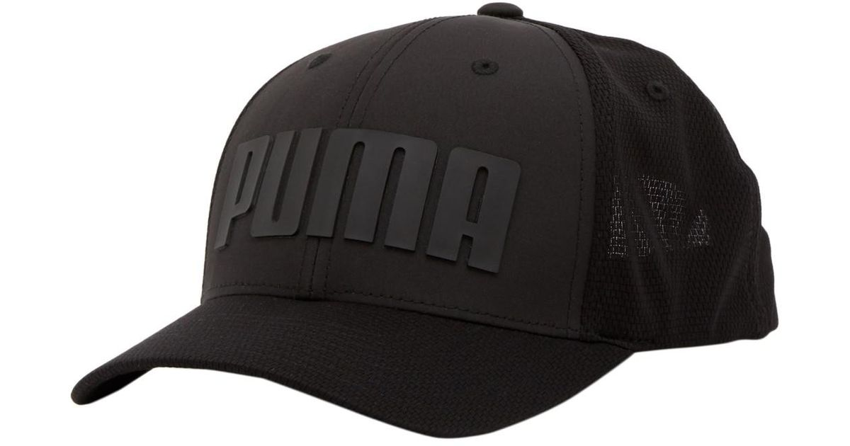 c926aff2a9fbb ... sweden lyst puma mainline mono cubic trucker snap back cap in black for  men 79d78 2464f