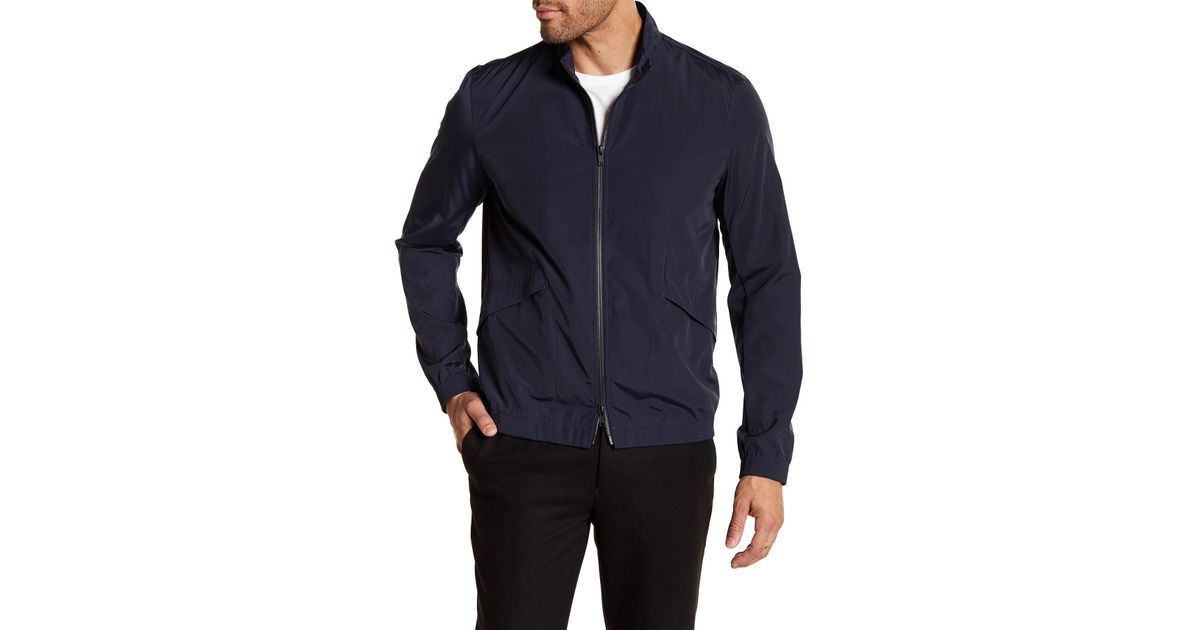 0b327e190b Theory Drafted Dual Zip Blouson Jacket in Blue for Men - Lyst