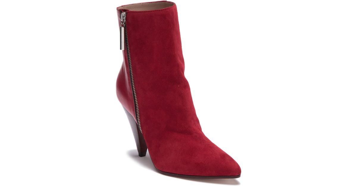 9006ea9b5aba Lyst - Stuart Weitzman Cone Heel Bootie (women) in Red