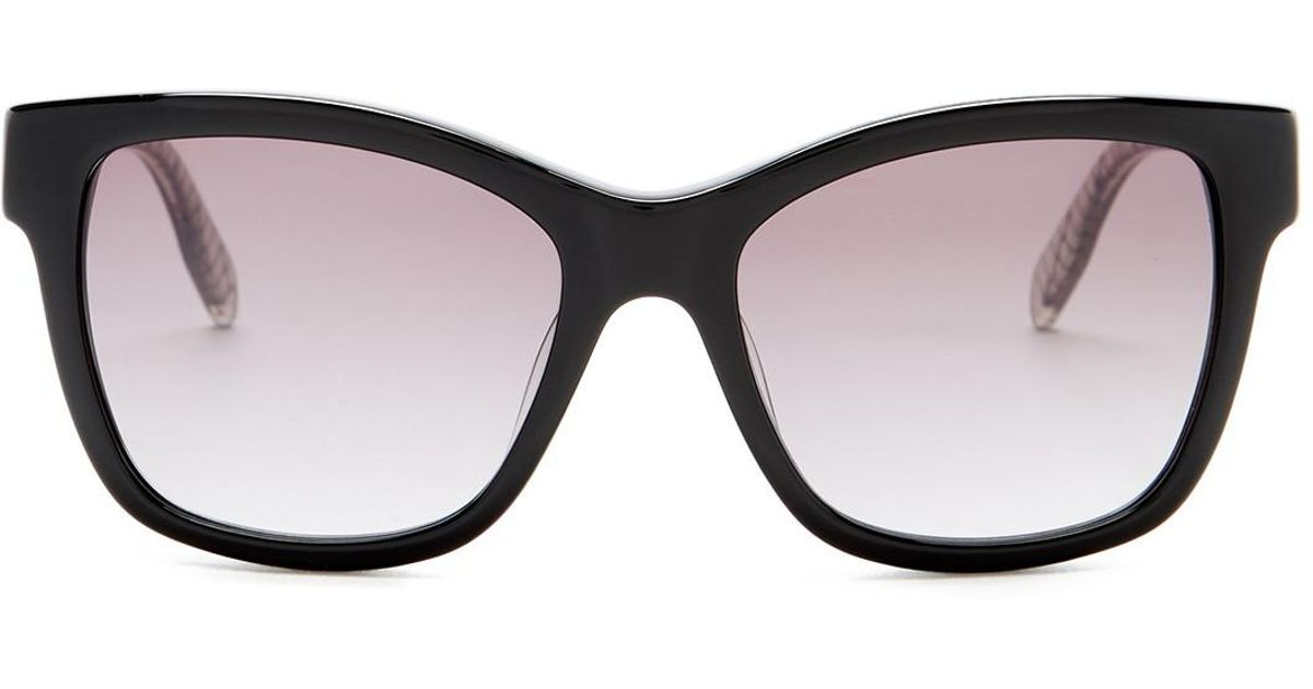 f1c07cd6886 Lyst - Karl Lagerfeld Women s Squared Cat Eye Sunglasses in Black