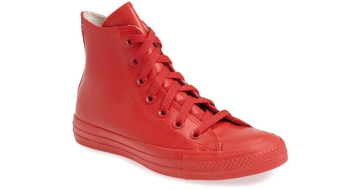 609bfa87330258 Lyst - Converse Waterproof Rubber Rain Sneaker (unisex) in Red