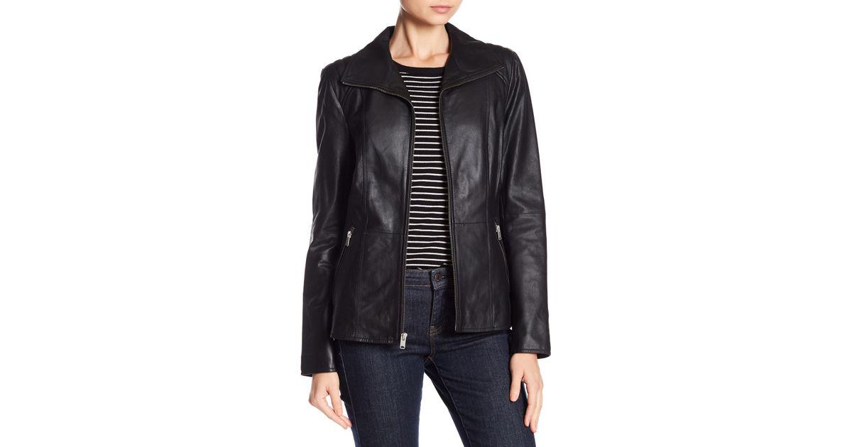 8ff809538c76e Lyst - Andrew Marc Fabian Front Zip Jacket in Black
