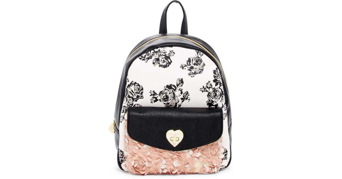 Lyst - Betsey Johnson Turn Lock Printed Backpack
