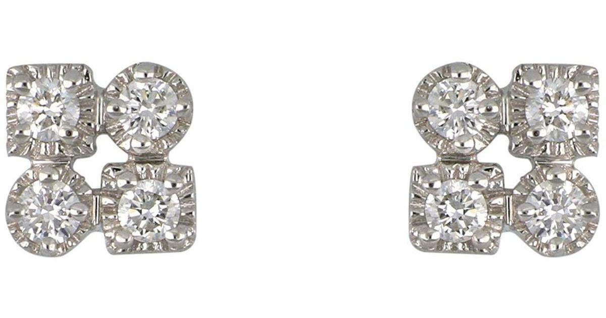 4ba1f8db7 Lyst - Bony Levy Maya 18k White Gold Bezel Set Diamond Stud Earrings - 0.15  Ctw in Metallic