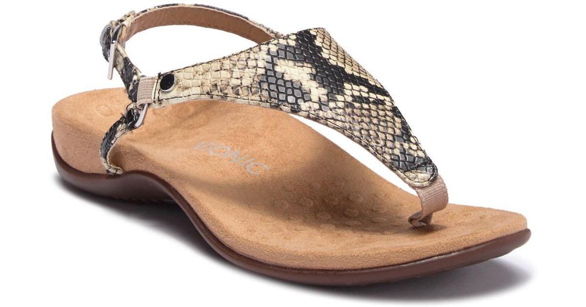01e8856e3cc Lyst - Vionic Kirra Snake Embossed Sandal - Wide Width Available