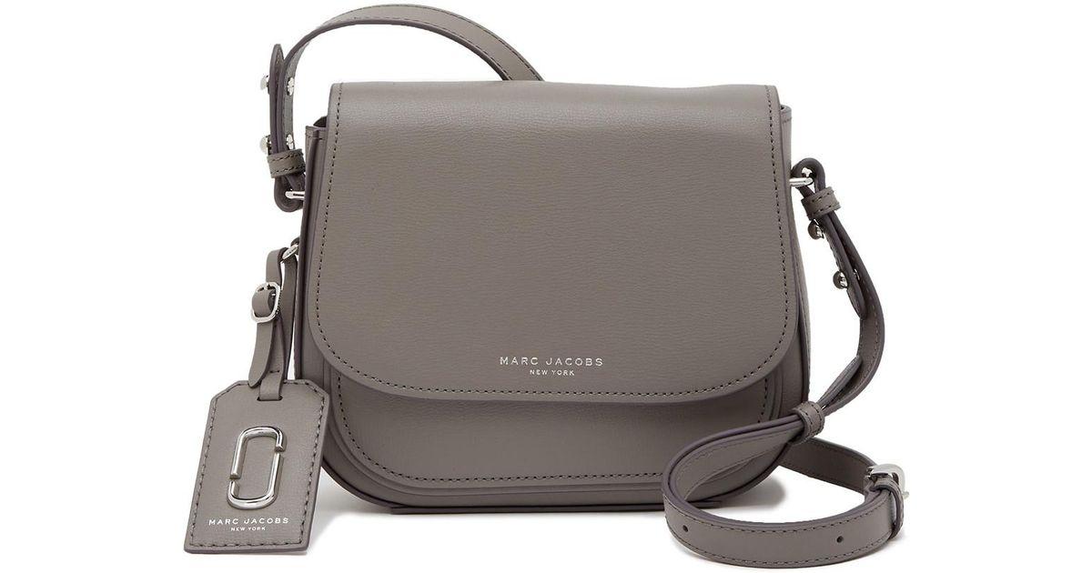 8e621ed93c4 Marc Jacobs Mini Rider Leather Crossbody Bag in Gray - Lyst