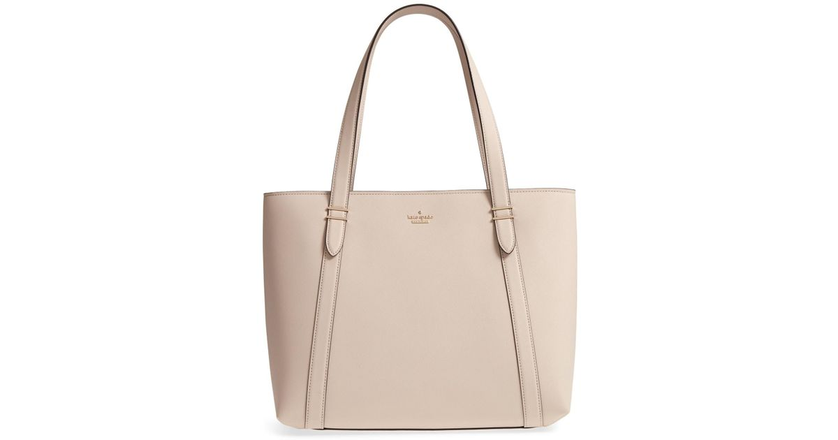 94a181348a3c Kate Spade Oakwood Street Chandra Tote in Natural - Save 31% - Lyst