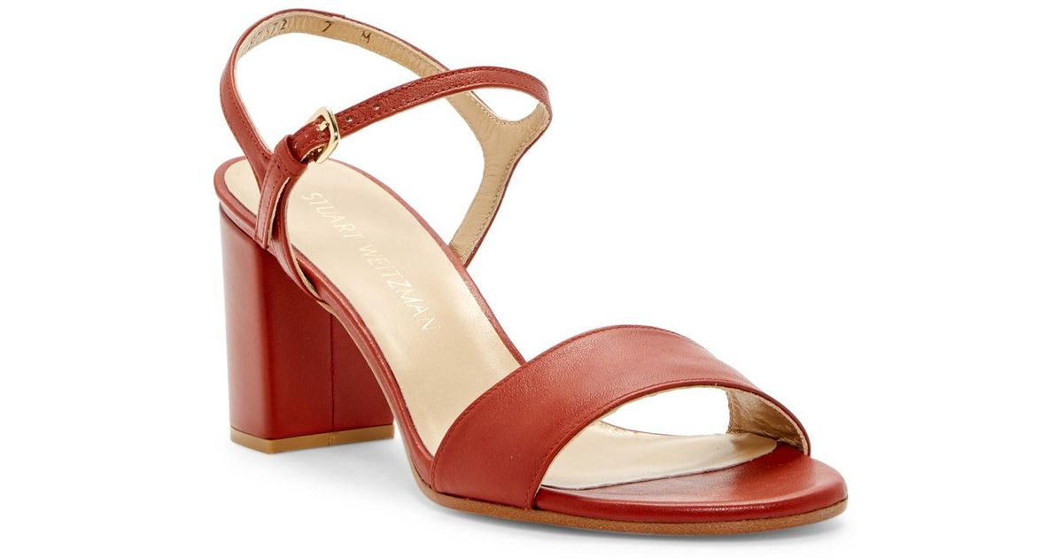 26fba5cd557b Lyst - Stuart Weitzman Solo Ankle Strap Sandal
