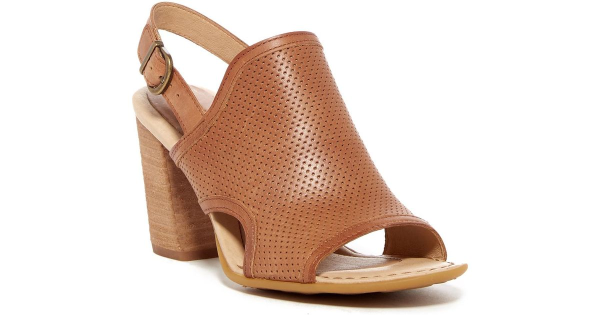 e16c710f1845 Born Stella Perforated Leather Sandal in Brown - Lyst