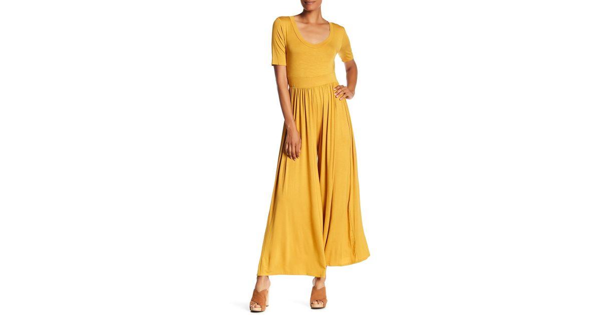 0dd26c6833e3 Lyst - West Kei Knit Wide Leg Jumpsuit in Yellow