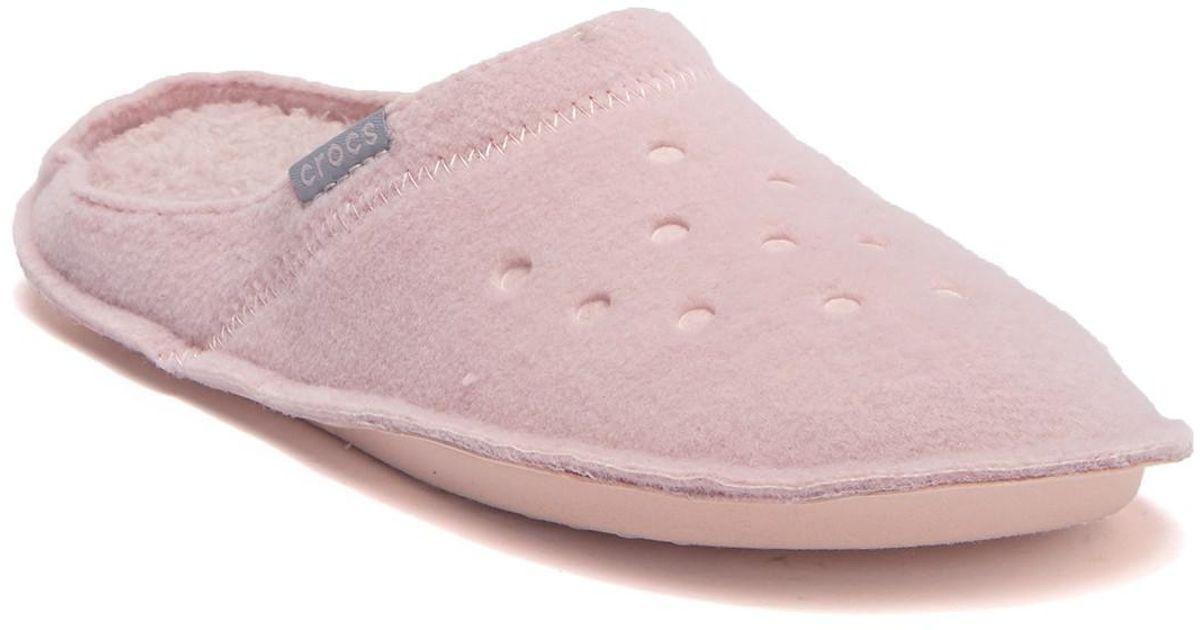 985fe1314958d1 Lyst - Crocs™ Classic Faux Fur Slipper in Pink