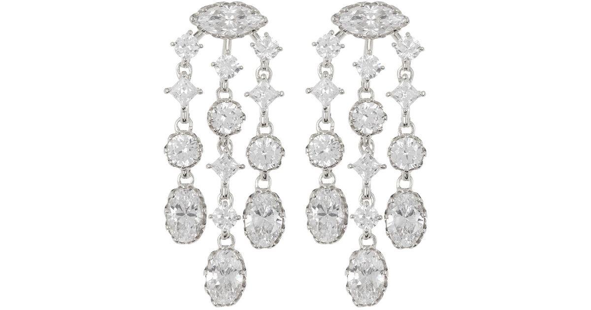 9d30fb4b5 Nadri Georgian Cz Chandelier Earrings - Lyst
