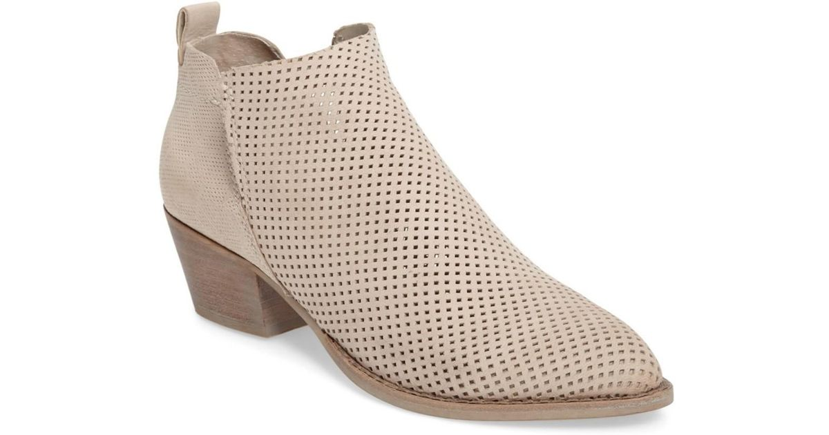 23f1ebc2d589 Lyst - Dolce Vita Sonya Perforated Split Shaft Bootie (women) in Natural