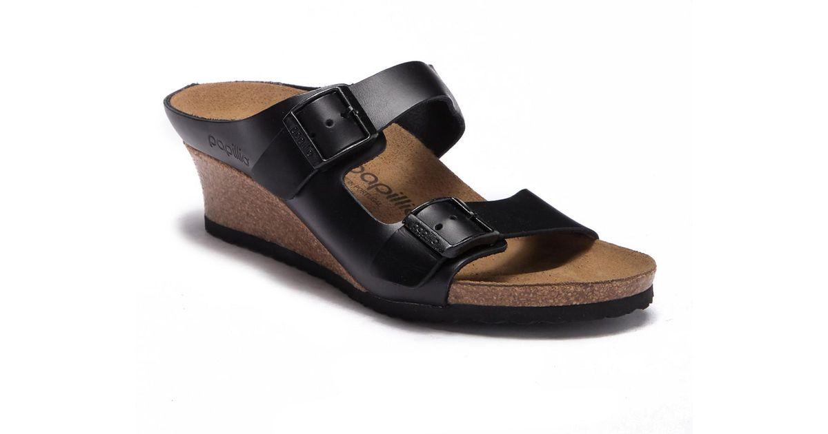 8f3f43f78606 Birkenstock Emina Wedge Sandal - Discontinued in Black - Lyst
