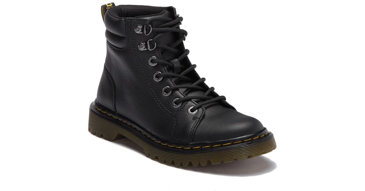 d44b373587d6 Lyst - Dr. Martens Faora Mid Top Leather Boot in Black