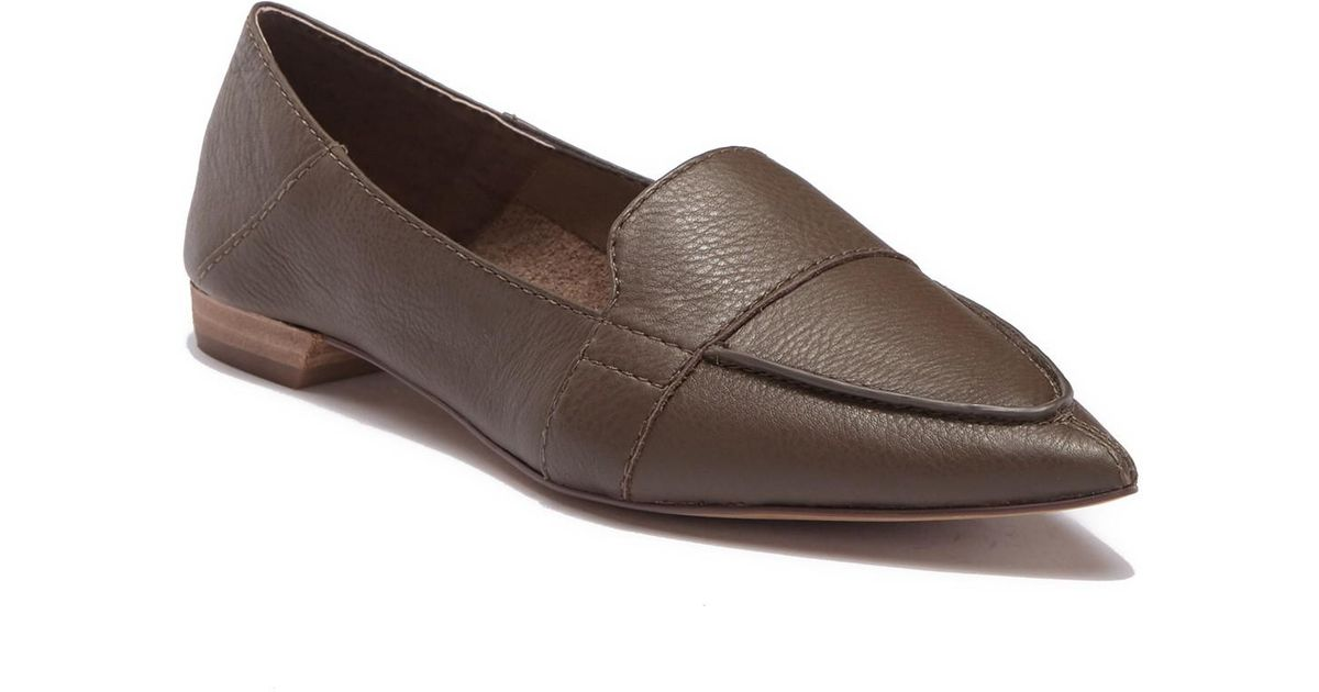 19c3f951b0f Lyst - Vince Camuto Maita Pointed Toe Leather Loafer in Brown